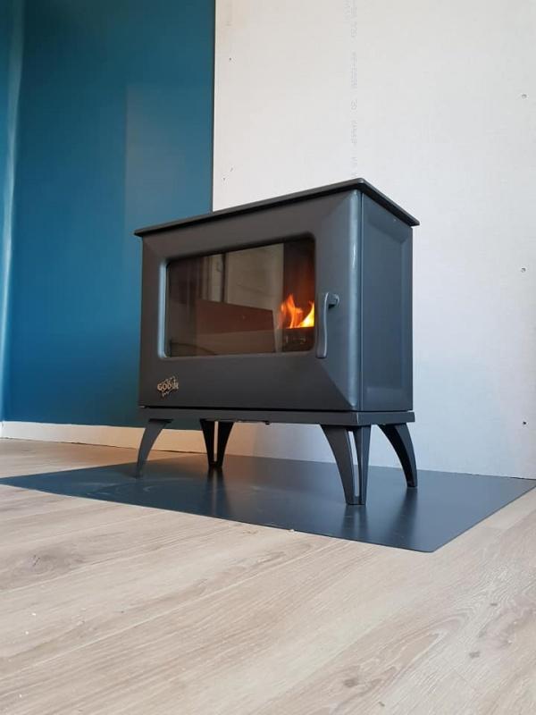 Pose d'un poêle à bois en remplacement de la cheminée