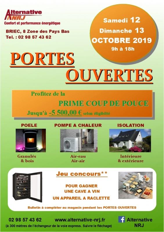 Portes ouvertes samedi 12 et dimanche 13 octobre